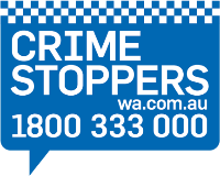 Crime Stoppers logo. Crimestoppers.com.au 1800 333 000.